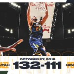 Image for the Tweet beginning: Rudy with 25p, 14r &