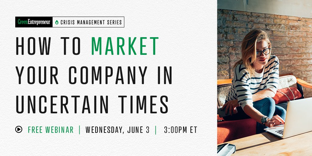 Last chance to join todays free webinar, How To Market Your Company In Uncertain Times. Register here: bit.ly/2XrD01M