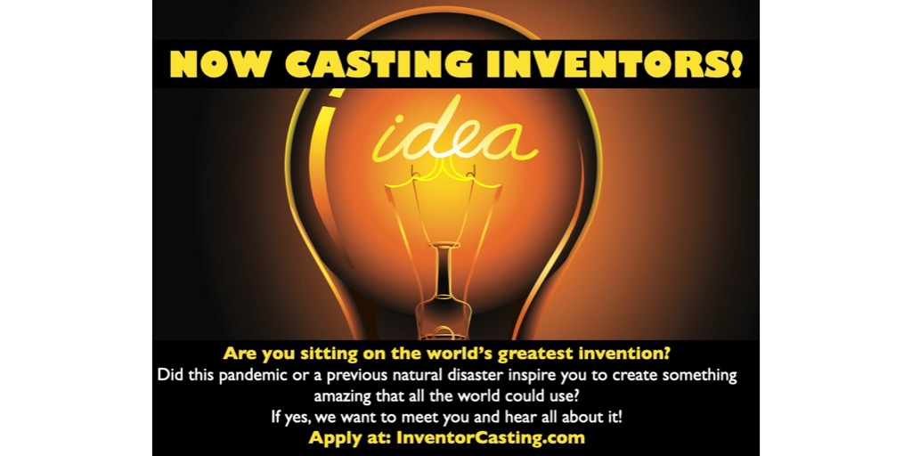 @technocopia Did this pandemic or a previous natural disaster inspire you to invent an amazing new product or gadget?  A new tv show wants to hear from inventors/entrepreneurs NATIONWIDE!  Apply online at http://InventorCasting.com  Please share!pic.twitter.com/BH3cZ2zn88