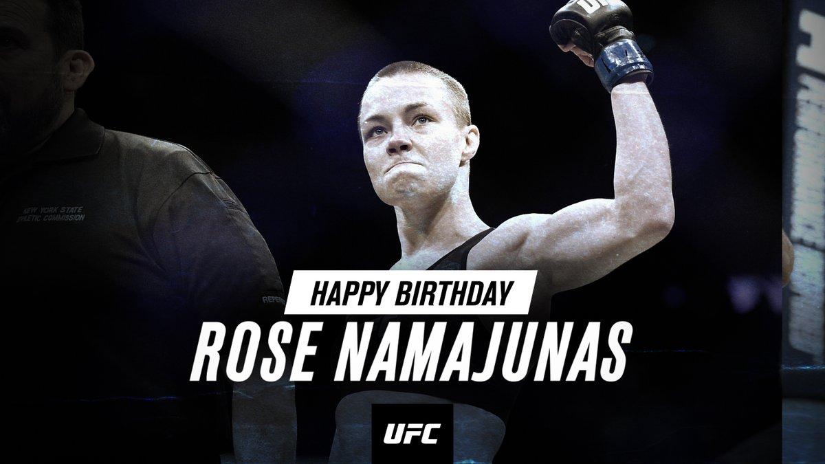 🌹🌹🌹🌹🌹🌹 RT to wish @RoseNamajunas a Happy Birthday!