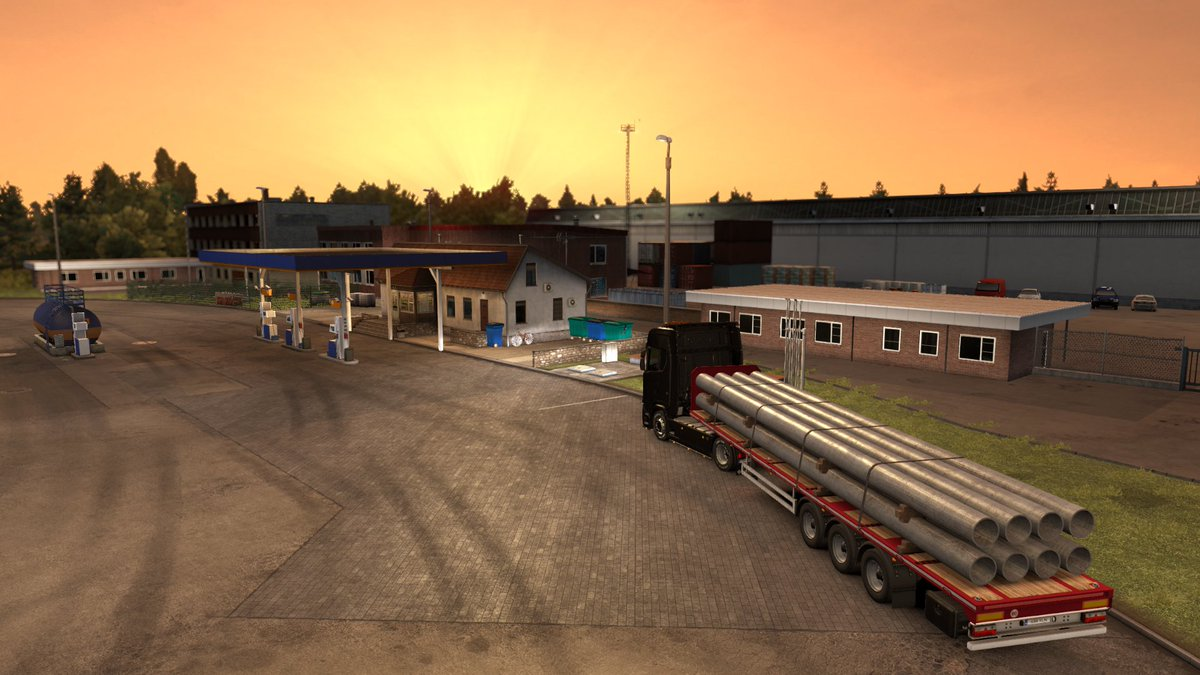 22h: Oh, what a beautiful sunset! I'll go to sleep now so I can get up early and see the sunrise! 07h: Well... #ETS2 @SCSsoftwarepic.twitter.com/AHshlcrzgg  by ThorKeMaDa