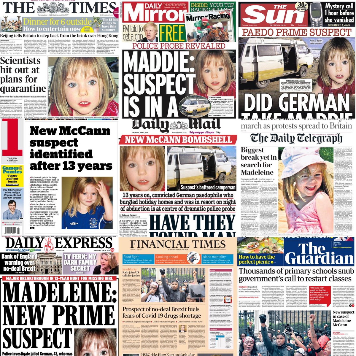 I must be in a supermassive black hole of an echo chamber if these are today's front pages...