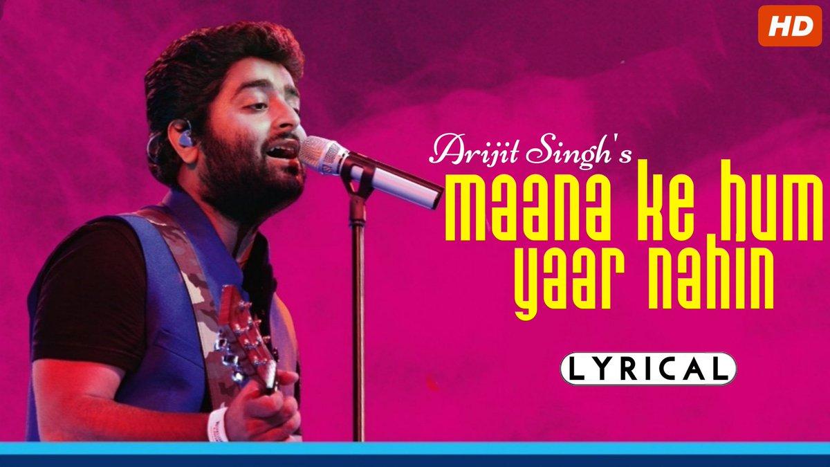 #MaanaKeHumYaarNahin in the voice of #ArijitSingh!  LINK -   #MeriPyariBindu
