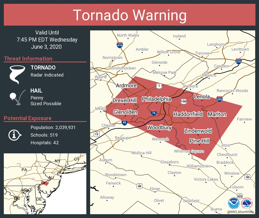 @NWS_MountHolly's photo on Tornado Warning