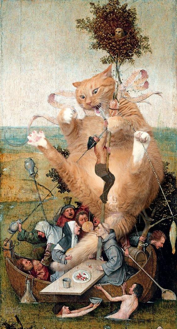 Hieronymus Bosch: The Ship of Fools #art<br>http://pic.twitter.com/qtBwXZBnWr