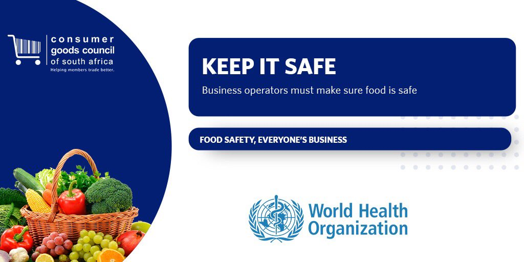"""Day 3 - """"Keep it safe""""  Business operators must make sure food is safe.  Learn more by watching today's #WorldFoodSafetyDay video about the """"Keep it safe"""" call to action.  🔗 https://t.co/piqMduVdRL   @FAOWHOCodex @myGFSI #WFSD #FoodSafety #consumer https://t.co/5mBRz6IZAT"""