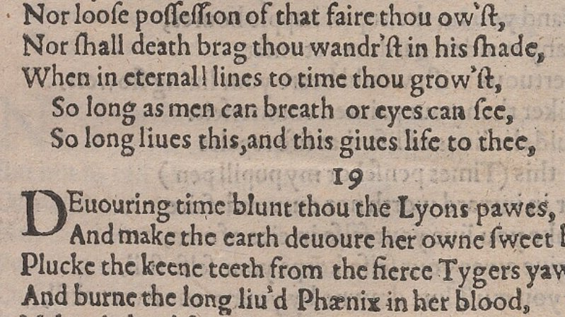 So long as men can breath or eyes can see, So long liues this, and this giues life to thee. Shakespeare, Sonnets (1609), from the Elizabethan Club collections @BeineckeLibrary; brbl-dl.library.yale.edu/vufind/Record/…