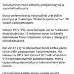 Image for the Tweet beginning: Suomi ottaa tänä vuonna 18,8