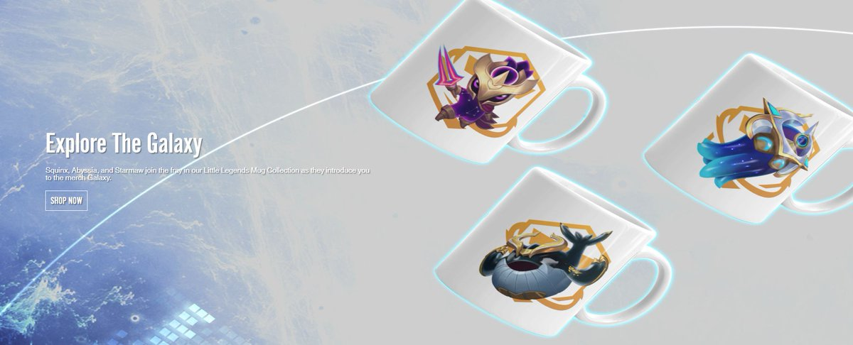New Galaxy merch collection on the Riot merch store, including new Galaxies Little Legends mugs, posters, and the return of some old favorites! merch.riotgames.com/en_US/promos/2…
