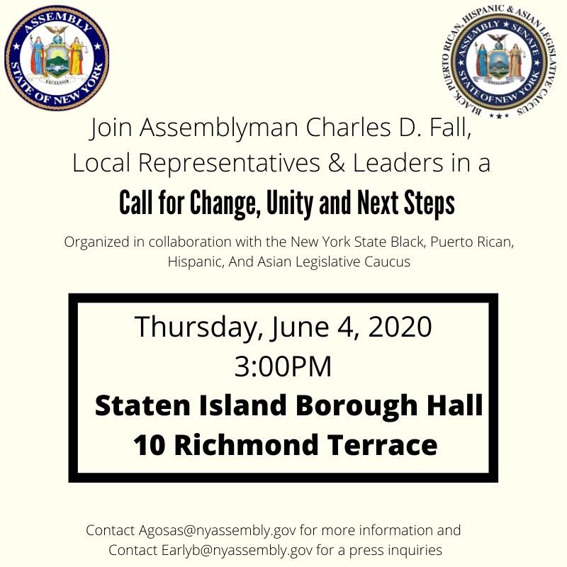 Press Conference tomorrow at #StatenIsland Borough Hall at 3PM