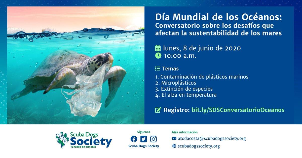 ¡Celebremos juntos el Día Mundial de los Océanos! Hemos preparado un conversatorio este lunes, 8 de junio, para que reflexionemos juntos sobre cómo podemos activarnos y ayudar a preservar los mares y combatir su contaminación. Aquí el enlace de registro: bit.ly/SDSConversator…