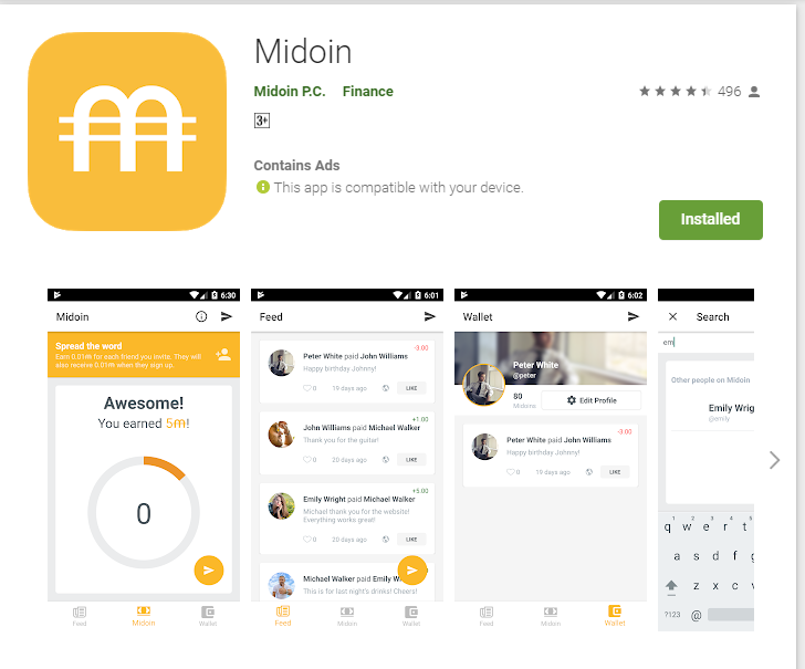 MIDION MINING APPLICATION AIRDROP  - UP TO 0.1 BTC  EARN MIDION COIN BY TAPPING CIRCLE AUTOMINER ALSO REFER - YES  REFER ID - sayanroy ( input referral reward multiplied by 10x) MIDION VERY STRONG PROJECT MUST TRY TO JOIN https://play.google.com/store/apps/details?id=com.midoin…pic.twitter.com/zHhNtwP2f0