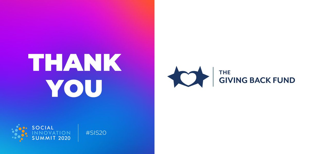 We're honored to be supported by #SIS20partner @givingbackfund and are grateful for the amazing work they do to help others leverage their influence to amplify philanthropic impact. #SIS20pic.twitter.com/x1NpdEW6is