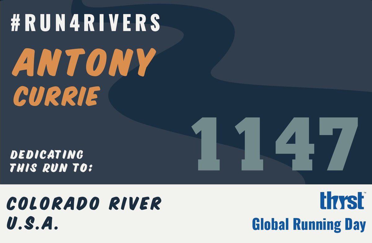 I'm about to #Run4Rivers along the Hudson in NYC, in support of the Colorado out west, while reminiscing about the Thames back in the UK - and plenty of other rivers that sustain us, but that also need our help to be more sustainably used. Great idea, @minaguli! https://t.co/kSrHYvLrqf