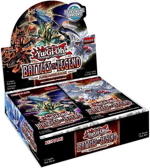 The upcoming Yu-Gi-Oh! Battles of Legend: Armageddon booster box is now available for pre-order.  Check it out and the rest of your Yu-Gi-Oh TCG sealed products at: https://hubs.ly/H0qFY5D0  #tcg #yugioh #cardgame pic.twitter.com/PDlSRutm2Y