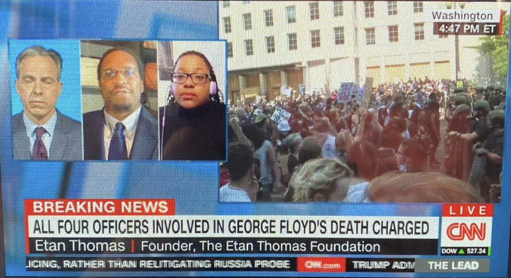 Thank you CNN and Jake Tapper for having Emerald Garner and I on today to talk about the #EricGarnerLaw that should've been passed a long time ago but would have federal implications and could've saved #GeorgeFloyd  We HAVE to keep fighting for #PoliceAccountability https://t.co/bDXRjbe5Ul