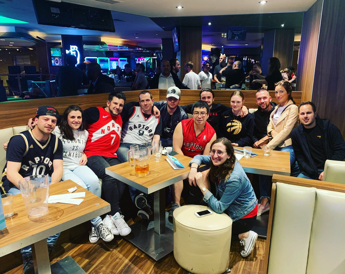 A year ago today we had our first Raptor UK watch party for Game 2 of the Finals... shame it wasn't a win. #WeTheNorth #NBAinTheUK
