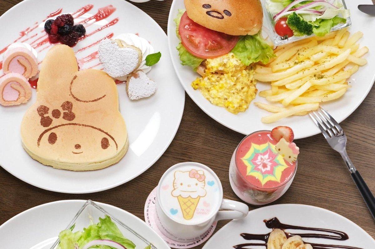 [明日オープン] 「サンリオカフェ」が東京・池袋のサンシャインシティに、カフェスペース&テイクアウト専門ワゴン -