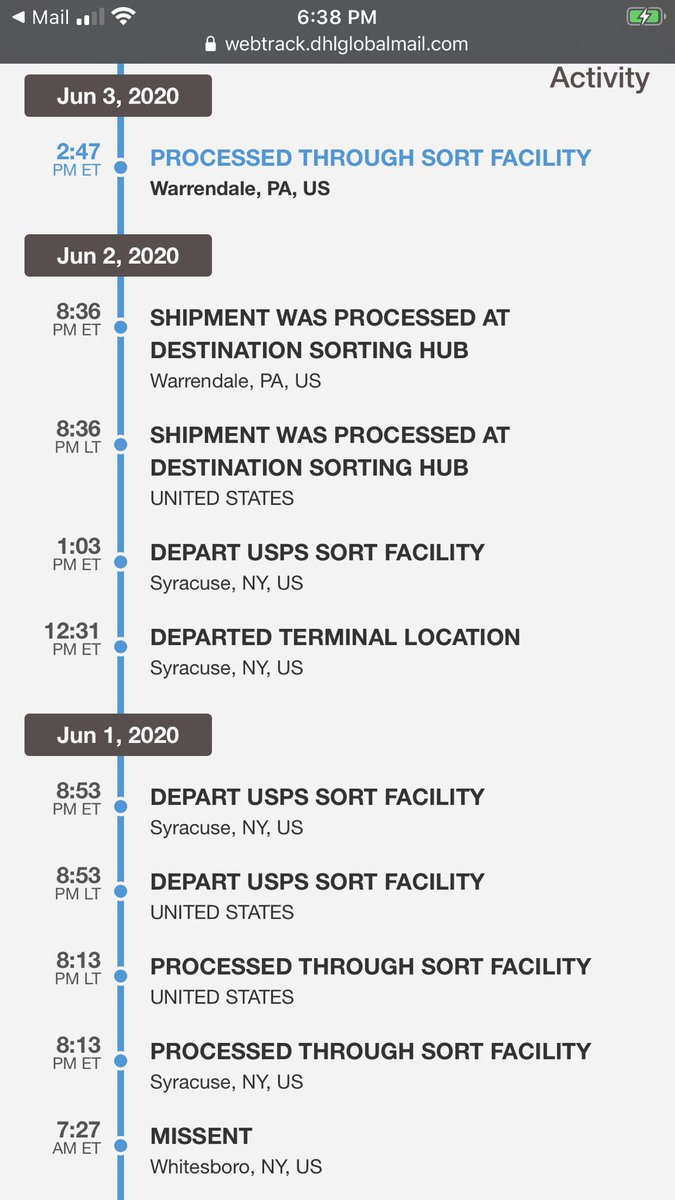 What the heck is going on with this shipment for my #AEWHeels tote? Ended up in NY and now in PA? Everywhere but NJ! 🥺
