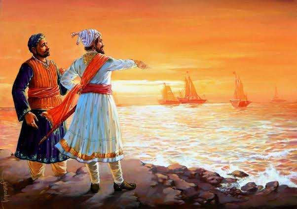 Shivaraay launched Navy. Though the Maratha ships were smaller and the weapons inferior in technology, they gave Marathas capability to open a sea front. This sea front played a big role in the 27 year war by blocking Aurangzeb's supply chains from Surat.  #Shivrajyabhishek_Din<br>http://pic.twitter.com/neamCJdCnQ