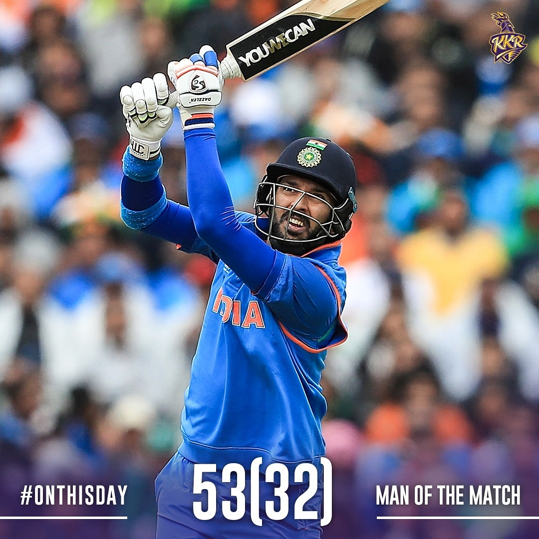 #OnThisDay in 2017 🇮🇳 ⚔️ 🇵🇰 India rode on @YUVSTRONG12s brilliance to thump Pakistan by 124 runs (DLS method) in a 🌧️ curtailed Champions Trophy encounter Raise your 🙋‍♂️ if you watched this game! #ThisDayThatYear #India #INDvPAK #KKR #Cricket