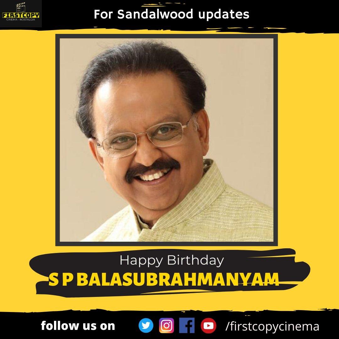 #Happybirthday to the legendary #SPB sir.. We love you 3000 and more...   #Kannadafilms #Tamilfilms #Indianfilms #Kannadamovies #Tamilmovies #Indianmovies #Sandalwood #Tollywood #Kollywood  #SPBalasubrahmanyampic.twitter.com/7wCjo8MEIQ