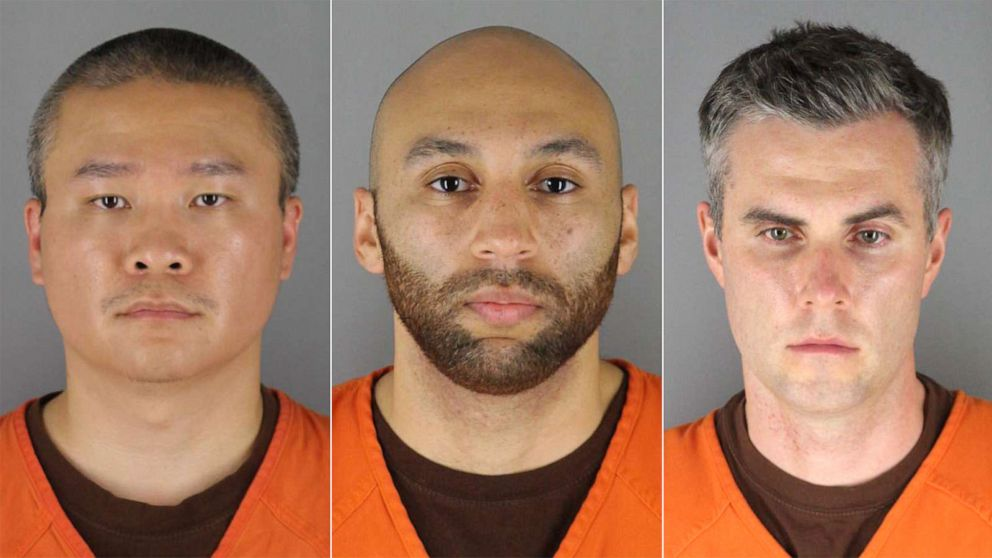 LATEST: Tou Thau, Alexander Kueng and Thomas Lane, the former Minneapolis police officers now charged in connection with George Floyd's murder, have been arrested and booked into Hennepin County Jail, authorities say. https://t.co/OubqCY6P5t https://t.co/kfyPapSdhr
