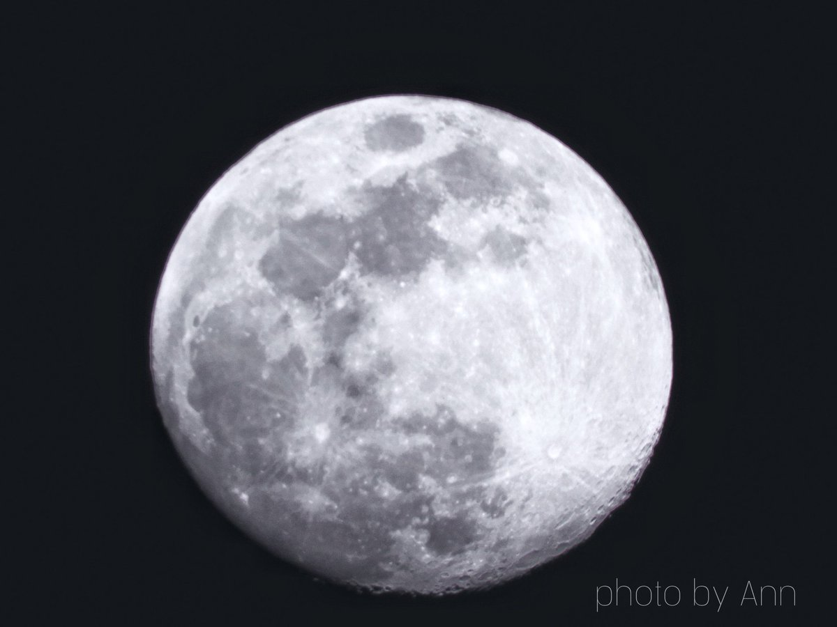 Beautiful Waxing Gibbous Moon 96% illuminated... @ECOEXPLORATORIO @adamonzon @DeborahTiempo @rcortestv2 @StormHour #Moon #Luna