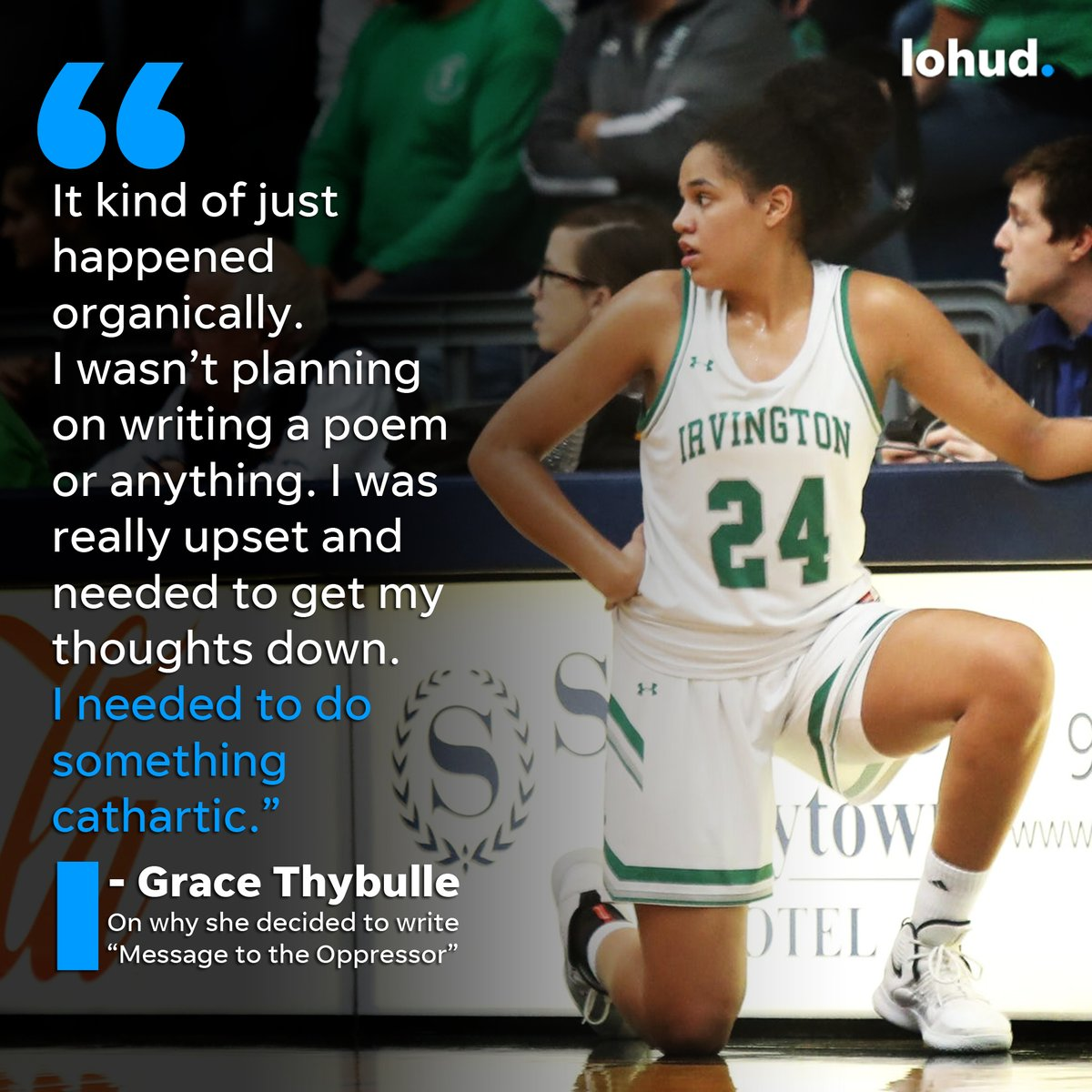 Why won't anyone hear us. They look but they never listen They tell us we're wrong Then put us in prison  That is an excerpt from a poem written by Irvington basketball standout Grace Thybulle: https://t.co/DzQbr8wZda  @hoopsmbd @lohudinsider @IrvingtonAthlet @gracethybulle https://t.co/PXBjXFy1iW