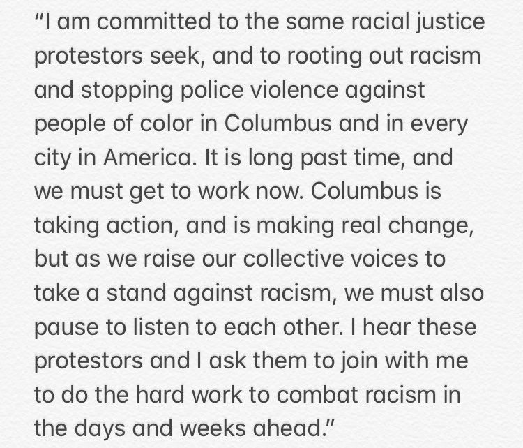 Statement from @MayorGinther on protesters at his house 👇 https://t.co/mg2Ux58DHQ