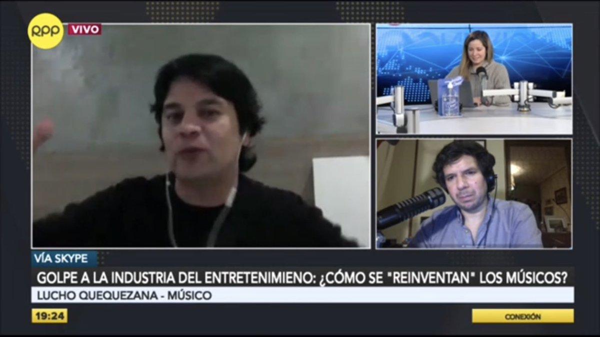 """🔴 EN VIVO en #Conexión con @mabel_huertas y @recisneros.  ☑ Lucho Quequezana: """"Yo me solidarizo con mis colegas, hay muchos artistas que la están pasando realmente mal""""  🗣️ RPP, #LaVozDelPerú 🇵🇪  📻 ► 89.7 FM / 730 AM 📲 Vía web ►"""