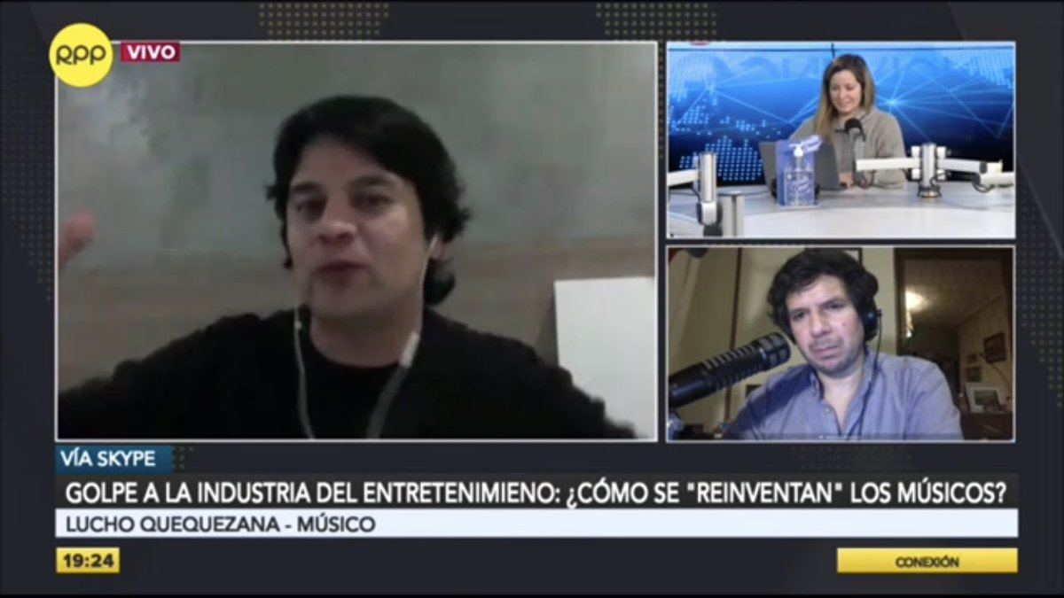 """🔴 EN VIVO en #Conexión con @mabel_huertas y @recisneros.  ☑ Lucho Quequezana: """"El coronavirus ha desnudado lo que se había abandonado por completo: la salud, la educación y la cultura""""  🗣️ RPP, #LaVozDelPerú 🇵🇪  📻 ► 89.7 FM / 730 AM 📲 Vía web ►"""