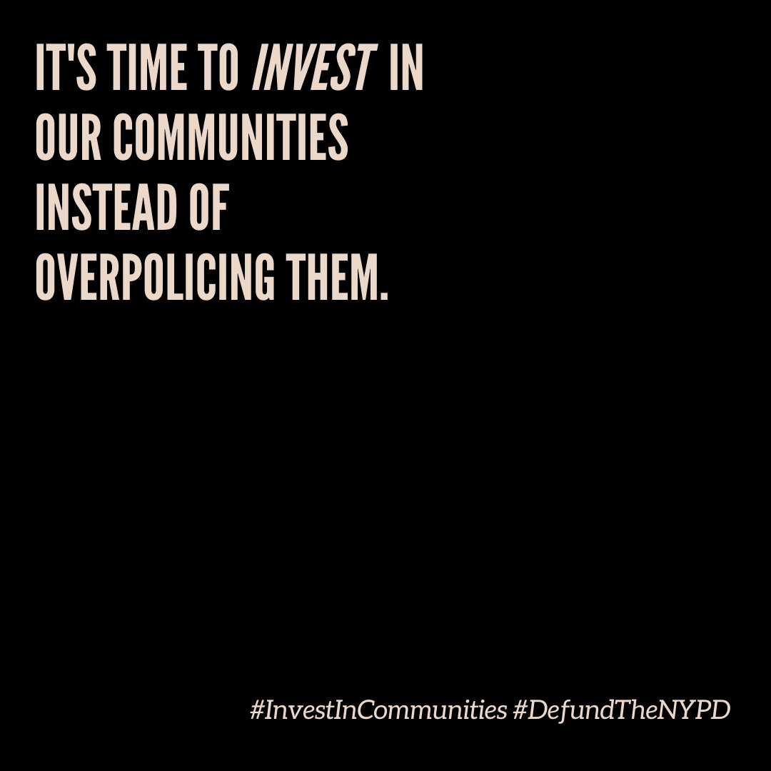 We stand with 171 human services orgs in calling on the City to make cuts to the NYPD & invest in human svcs to protect our communities. Its time to invest in supporting our communities instead of over-policing them: shorturl.at/cvHPV #DefundTheNYPD #DefendBlackLives