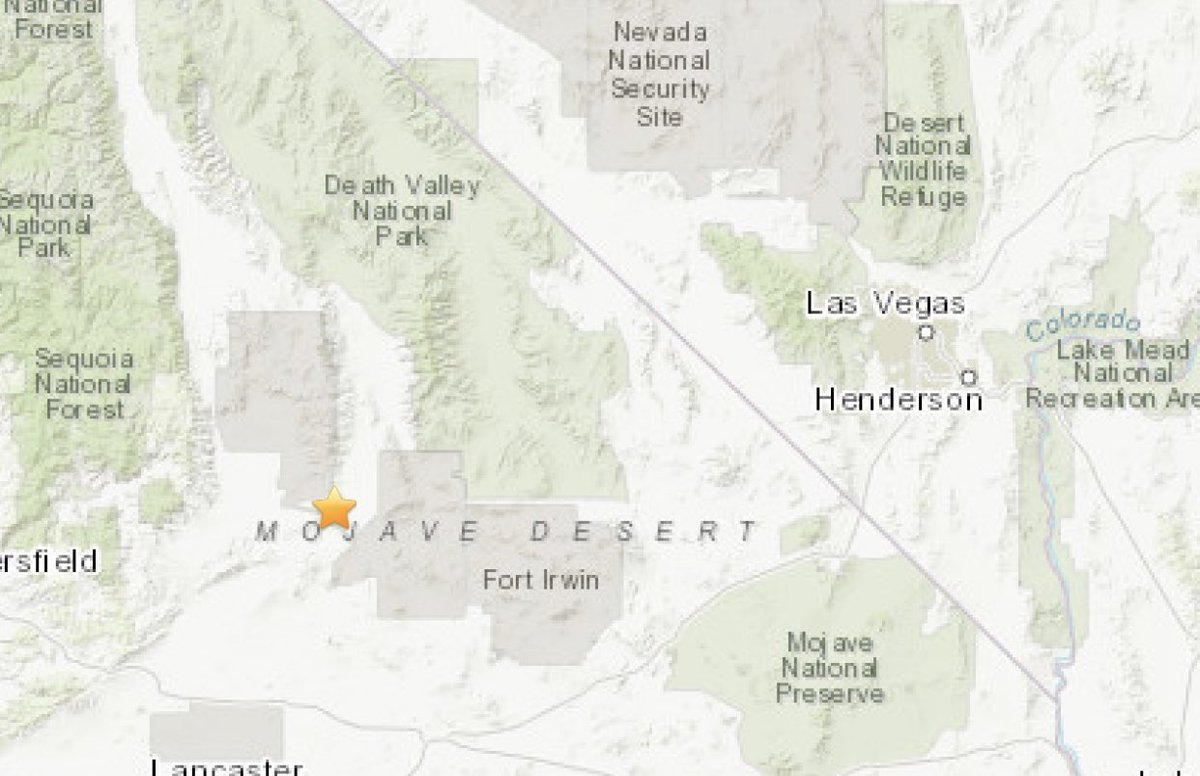 A magnitude 5.1 earthquake just occurred in Searles Valley, CA. Las Vegas residents are reporting to have felt it. #vegas #vegasearthquake #earthquake https://t.co/ZcleeJMliD
