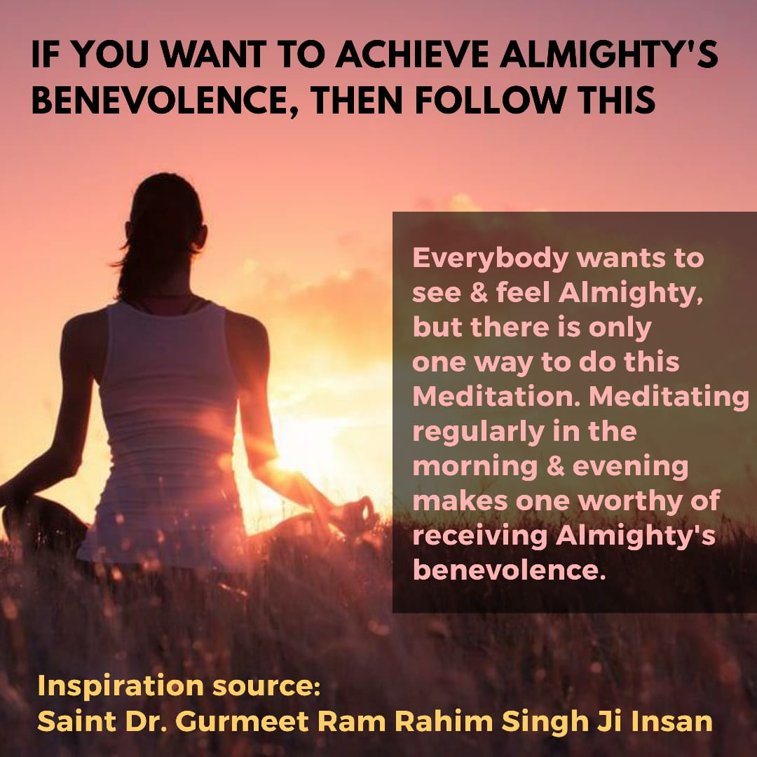 Will power and self confidence plays a important role in the success. But it is only increase by meditation which is given by Saint Dr. @Gurmeetramrahim ji. So, do meditation on regular basis which helps to change failure into success.  #ThursdayThoughts <br>http://pic.twitter.com/kwmpuXWrHR