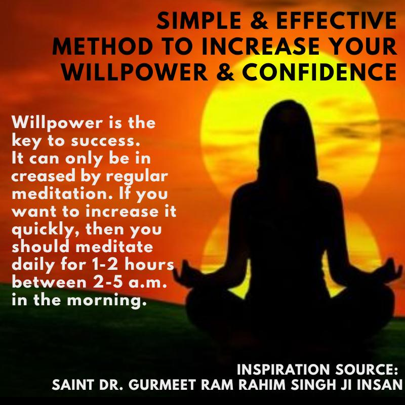 Meditation is the only tonic to increase strong will power and self confidence. #ThursdayThoughts <br>http://pic.twitter.com/NtClAjKxMM