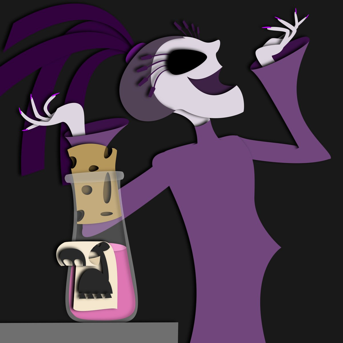 """(From Yesterday) Back on my weirdly-timed, back-dated #inktober grind with the prompt """"poisonous"""". Honestly, I'll take any opportunity possible to think about Yzma. <br>http://pic.twitter.com/rUkT4kRv1F"""