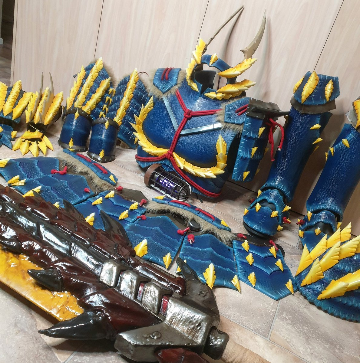 It is complete! #zinogre #MonsterHunter #cosplay