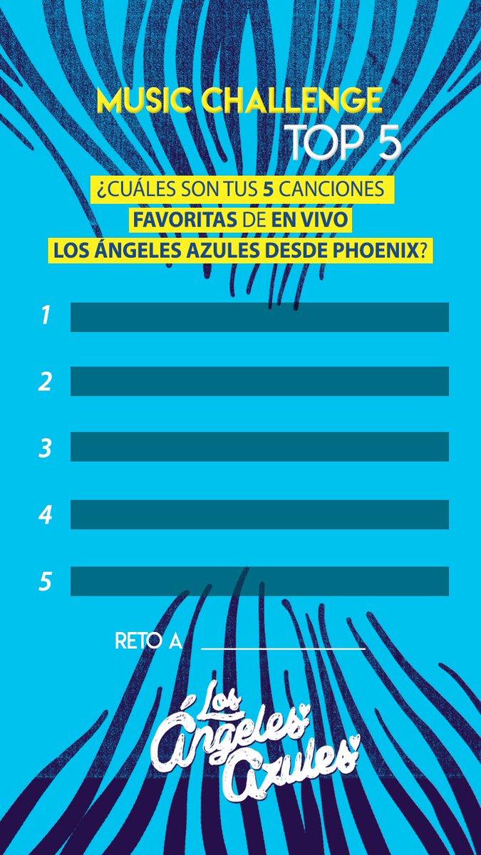 Cuál es su canción favorita de #LAAEnVivoDesdePhoenix? 🎶 Compártanos su 🔝 en #InstagramStories etiquetándonos @angelesazulesmx y retando a sus amigos 💃🏻🕺🏻 https://t.co/rtpukitFUS