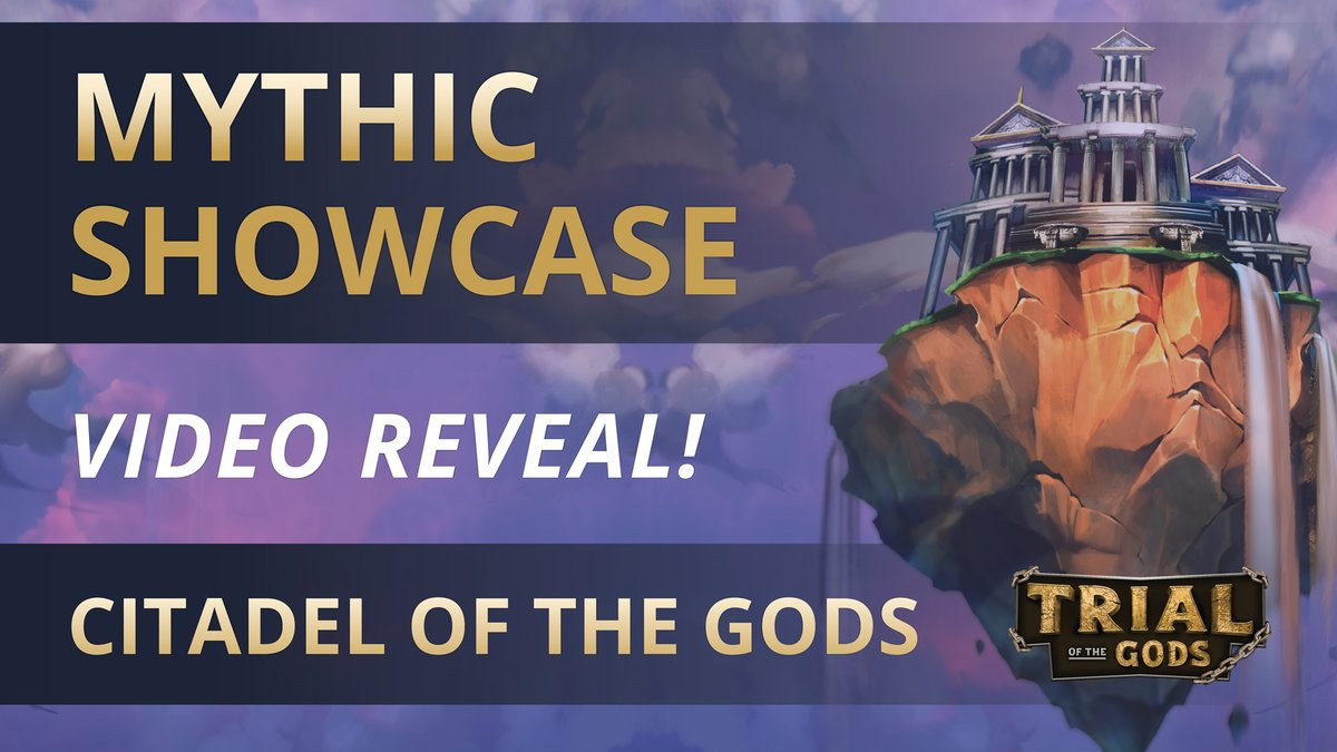 The Citadel of the Gods has emerged from the heavens! Witness the story of Trial of the Gods in a single match with this one-of-a-kind Mythic. 🎥: youtu.be/xcDcibkF6W4