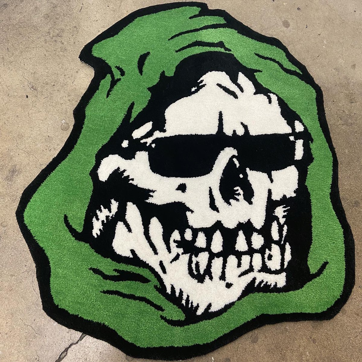 The Chill Reaper rug is now available in our online store! mishkanyc.com/products/chill…