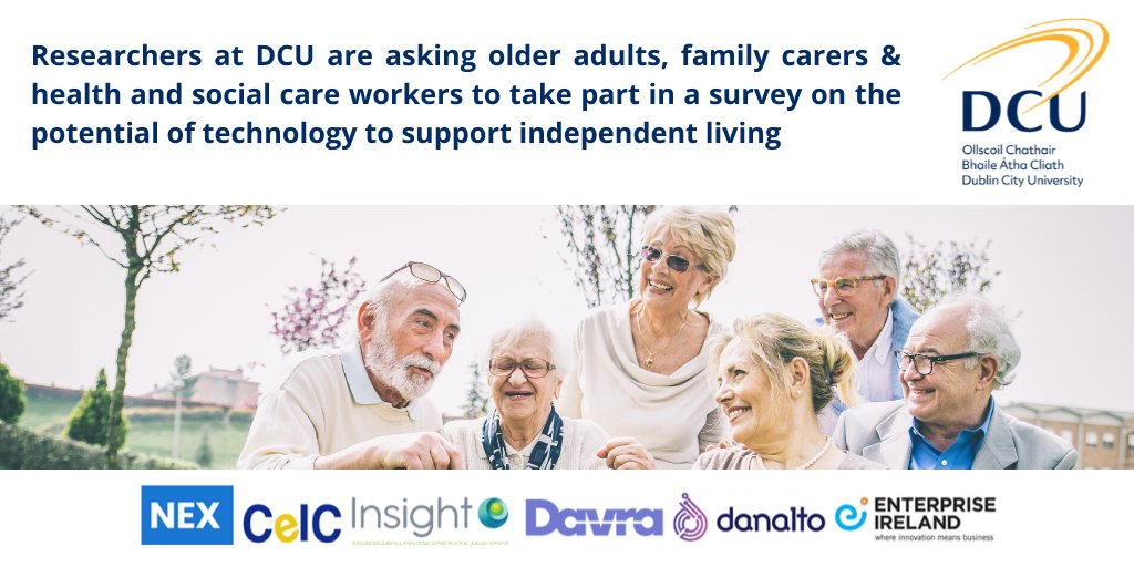 This #research is part of the @NEXDCU1 Project which aims to explore and develop cost-effective #technology solutions that meet the needs of older adults and support them to remain living independently in their own homes. Click here: https:// bit.ly/36VRF8N@davra_ iot   …  @danaltotech<br>http://pic.twitter.com/SKquJzlWLr