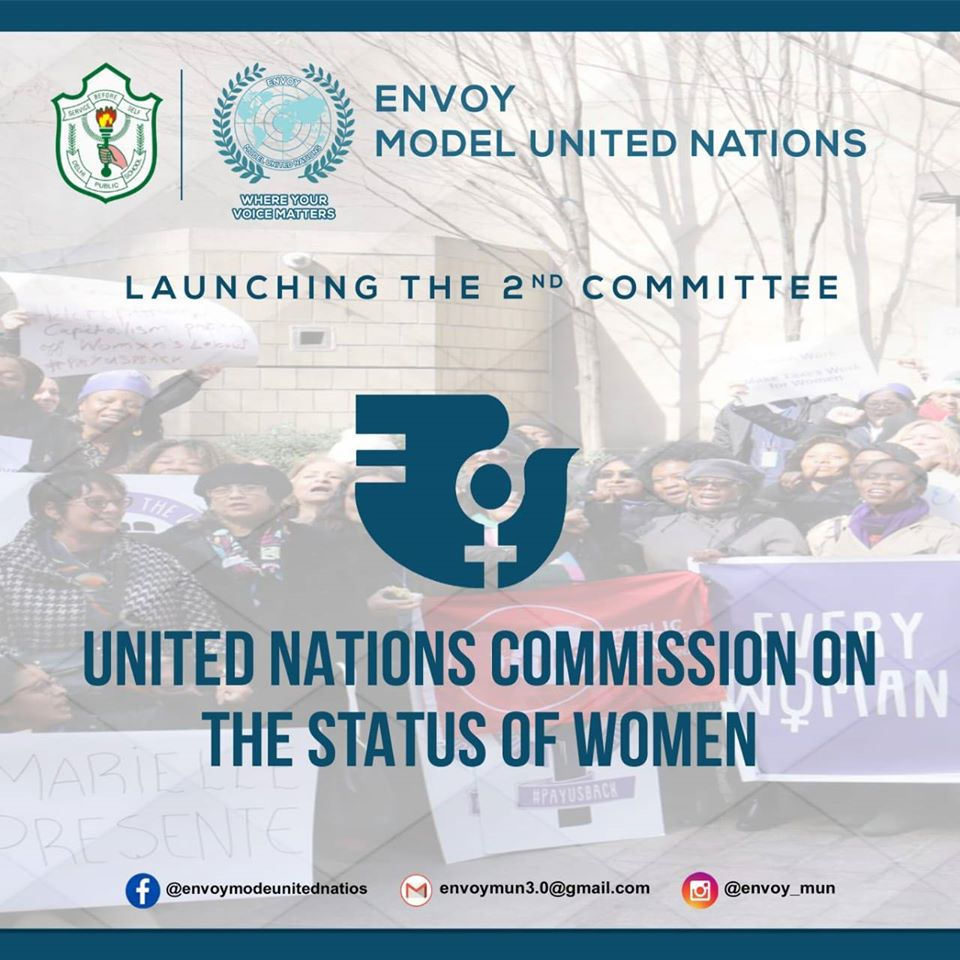 Ladies and Gentlemen Presenting Before you the 𝐒𝐞𝐜𝐨𝐧𝐝 𝐂𝐨𝐦𝐦𝐢𝐭𝐭𝐞𝐞 to be Stimulated at the 𝐄𝐧𝐯𝐨𝐲 𝐌𝐔𝐍 𝟑.𝟎- United Nations Commission on the Status of Women (UNCSW).  #womenempowerment #political #Politicspic.twitter.com/2ghuKJf5Mx