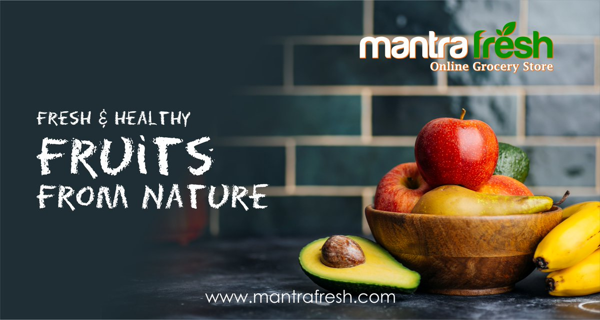 Fresh and Healthy Fruits from nature A GROCERY SHOP FOR EVERY HOME Shop now  #onlineshopping #Mantrafresh #groceryshopping #onlinestore #freedelivery #naturalfood #organicfood #organicvegetables