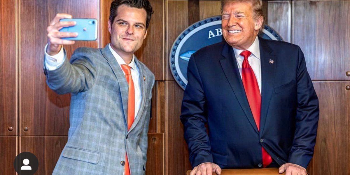Does Matt Gaetz realize that Trump has turned him into his little bitch, and will throw him under any bus as soon as the need arises?