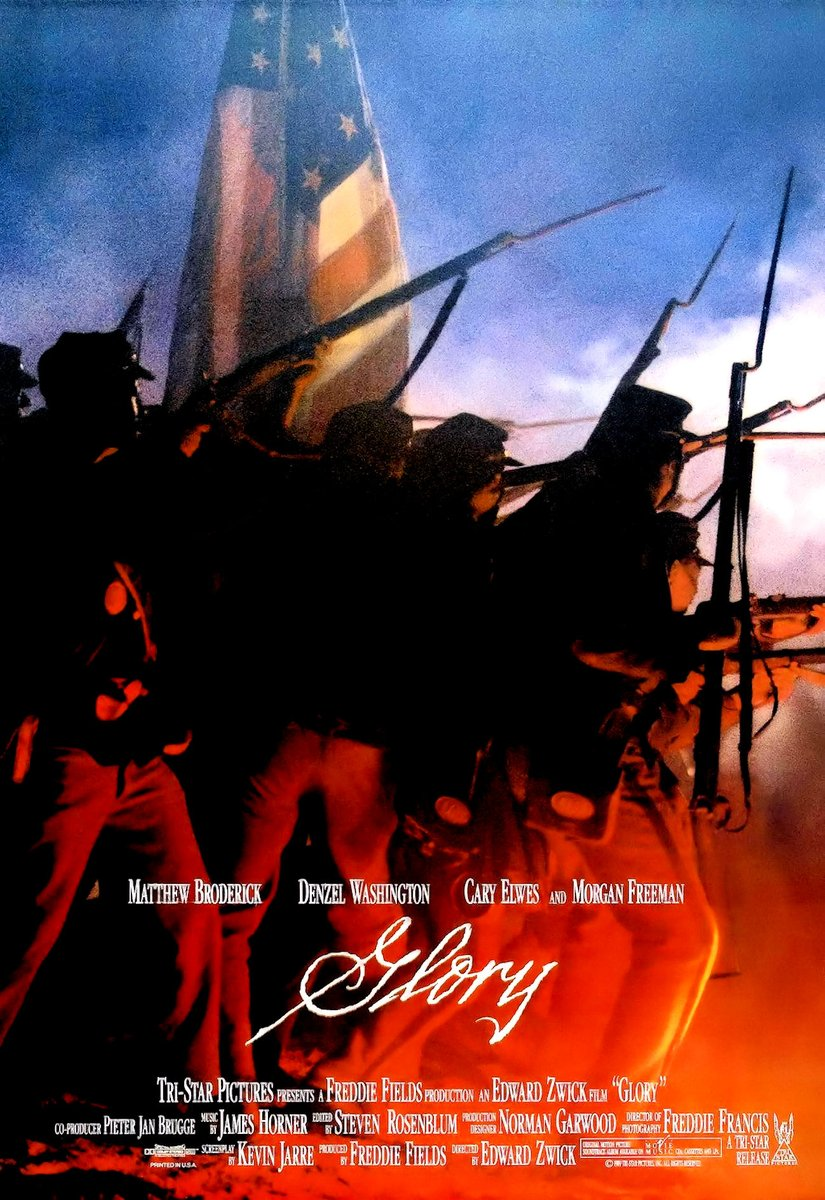 "#NowPlaying  It's timely for one of my favorite #films and #soundtracks. ""Glory"" (1989) is a masterpiece we should embrace for #insight and #inspiration as our country continues its struggle against #racism. #EdwardZwick #JamesHorner http://www.youtube.com/playlist?list=PLABC09122EA7F16FC …pic.twitter.com/l2SdCMqu0i"