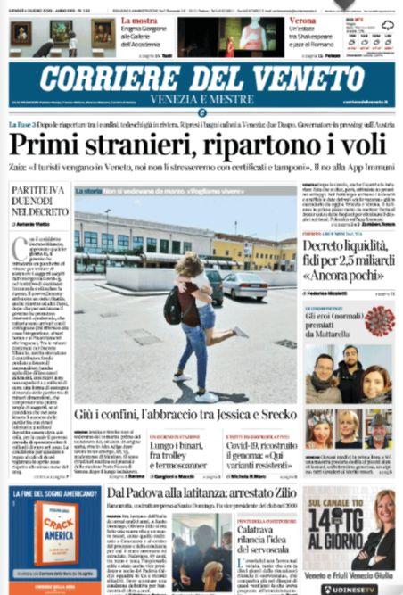 #BuonGiorno ecco la #primapagina del Corriere del ...