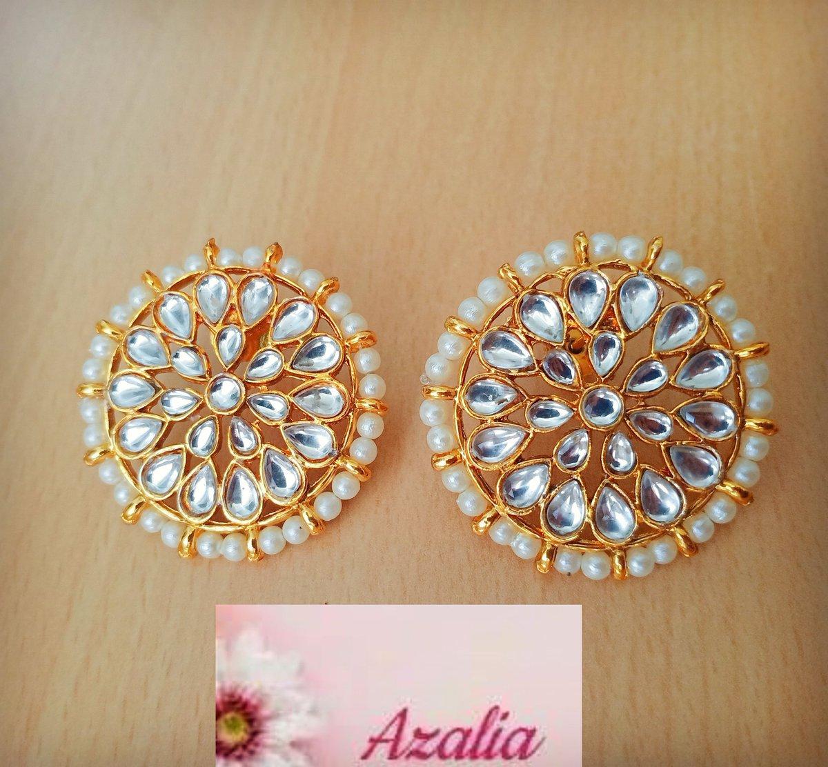 For buying visit https://azalia.in  #statementjewelry #designeranarkali #designerlehenga  #indianjewellery #bangalore #weddingjewellery #weddingsarees #indiandressesonline #denimjacket #oxidizejewellery #fashionearrings #sikhweddings #girlsboots #designerjewellery   #ringspic.twitter.com/E9bWsJt5dT