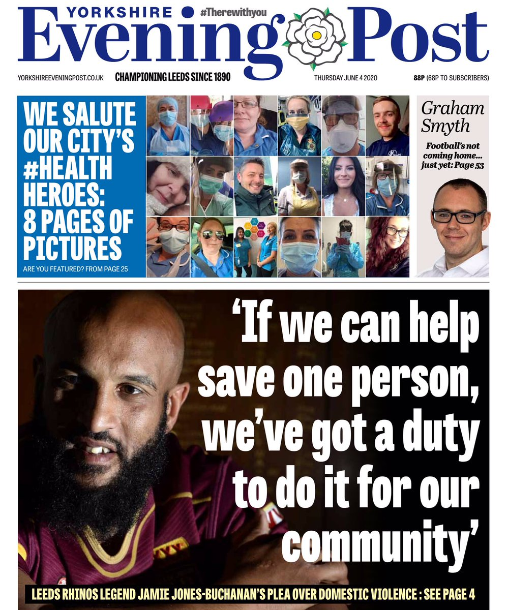 """Powerful words today from @RugbyLeeds and @leedsrhinos legend Jamie Jones-Buchanan as he speaks out in the latest of @LeedsNews reports on domestic abuse. He warns """"people have been killed in lockdown"""" and that there is simply #NoExcuseForAbuse yorkshireeveningpost.co.uk/news/people/le…"""
