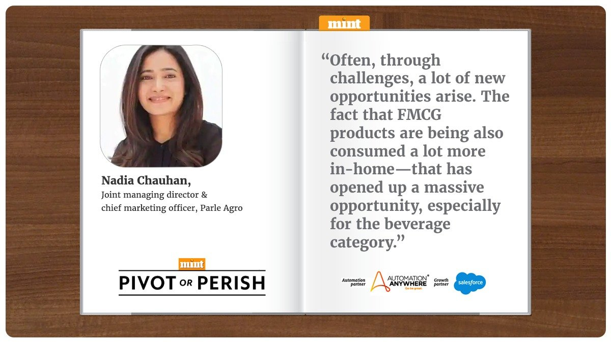 #PivotOrPerish | It's not just the home consumption packs that are going up, but it's also single-shelf packs that are going inside homes because consumers are maybe having one pack a day: @nadiachauhan,  joint MD and chief marketing officer, @Parle_Agro   https://t.co/YWOFGcRVbk https://t.co/AWAKqewXAs